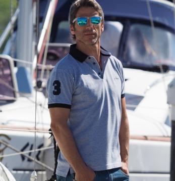 Bouclé Piquet Polo Man